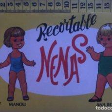 Coleccionismo Recortables: LIBRITO RECORTABLE NENAS MUÑECA ANA ROSA MANOLI Nº 7 ED. EVA BILBAO 1977 VESTIDOS MODA NIÑA. Lote 221500795