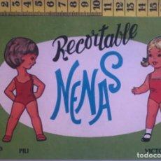 Coleccionismo Recortables: LIBRITO RECORTABLE NENAS MUÑECA PILI VICTORIA Nº 8 ED. EVA BILBAO 1977 VESTIDOS MODA NIÑA. Lote 221500940