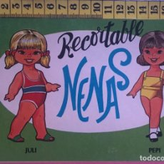 Coleccionismo Recortables: LIBRITO RECORTABLE NENAS MUÑECA JULI PEPI Nº 9 ED. EVA BILBAO 1977 VESTIDOS MODA NIÑA. Lote 221501076
