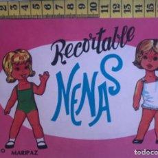 Coleccionismo Recortables: LIBRITO RECORTABLE NENAS MUÑECA MARIPAZ ISABELITA Nº 10 ED. EVA BILBAO 1977 VESTIDOS MODA NIÑA. Lote 221501267