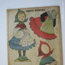 Coleccionismo Recortables: TOMASITA-RECORTABLE ANTIGUO MUÑECA-VER FOTOS-(K-792). Lote 221837628
