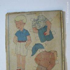 Coleccionismo Recortables: GONZALIN-RECORTABLE ANTIGUO MUÑECO-VER FOTOS-(K-783). Lote 221837756