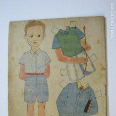 Coleccionismo Recortables: MUÑECO-RECORTABLE ANTIGUO MUÑECO-VER FOTOS-(K-787). Lote 221837895