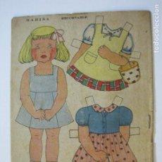 Coleccionismo Recortables: MARISA-RECORTABLE ANTIGUO MUÑECA-VER FOTOS-(K-789). Lote 221837987