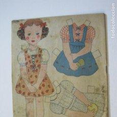 Coleccionismo Recortables: NIÑA-RECORTABLE ANTIGUO MUÑECA-VER FOTOS-(K-790). Lote 221838036