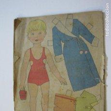 Coleccionismo Recortables: NIÑA-RECORTABLE ANTIGUO MUÑECA-VER FOTOS-(K-791). Lote 221838083