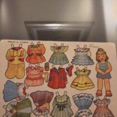Coleccionismo Recortables: ANTIGUA MUÑECA RECORTABLE FLORITA , ROSA. Lote 222497951