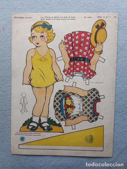 MUÑECA RECORTABLE ANTIGUA BABY. (Coleccionismo - Recortables - Muñecas)