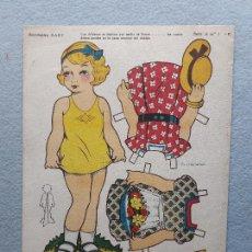 Coleccionismo Recortables: MUÑECA RECORTABLE ANTIGUA BABY.. Lote 222575381