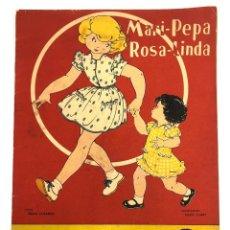 Coleccionismo Recortables: CUENTO MARI PEPA ROSA LINDA. CON RECORTABLE. MARIA CLARET. COMPLETO. AÑO 1951. Lote 222789290