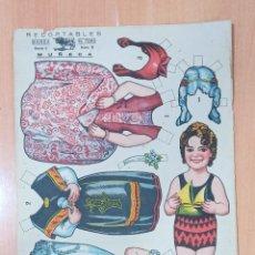 Coleccionismo Recortables: MUY ANTIGUO RECORTABLE MUÑECA. RECORTABLES EL TORO, SERIE C, NUMERO 11. PRECIOSO.. Lote 222891231