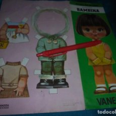 Coleccionismo Recortables: RECORTA MIS VESTIDOS. COLECCION BAMBINA : VANESA. 27 X 17 CM. Lote 223573667