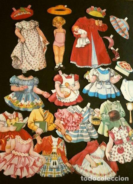 Coleccionismo Recortables: nº 9 - Antiguos Recortable de Muñecas Recortado (Años 30-40) original (Raro) Mapi, Blanca -Bombon - Foto 4 - 224211048
