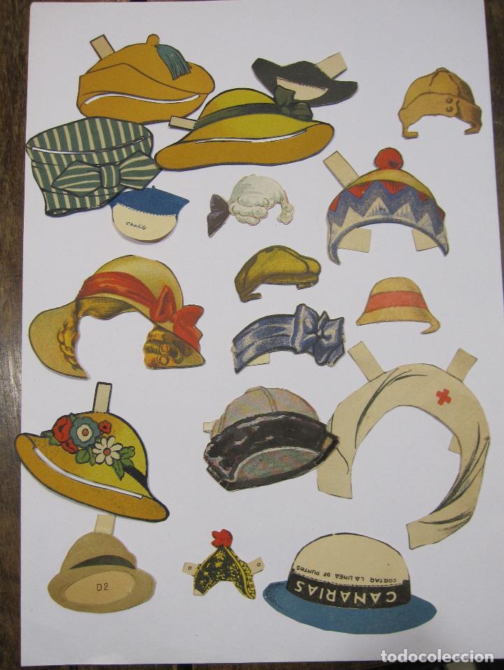 Coleccionismo Recortables: IMPORTANTE Y ANTIGUA COLECCIÓN DE MUÑECAS / MUÑECOS RECORTABLES. VESTIDOS. COMPLEMENTOS. VER FOTOS - Foto 44 - 228420055