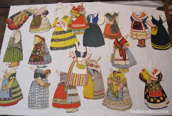 Coleccionismo Recortables: IMPORTANTE Y ANTIGUA COLECCIÓN DE MUÑECAS / MUÑECOS RECORTABLES. VESTIDOS. COMPLEMENTOS. VER FOTOS - Foto 55 - 228420055