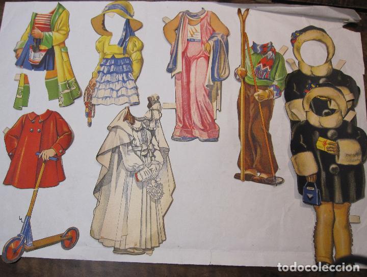 Coleccionismo Recortables: IMPORTANTE Y ANTIGUA COLECCIÓN DE MUÑECAS / MUÑECOS RECORTABLES. VESTIDOS. COMPLEMENTOS. VER FOTOS - Foto 57 - 228420055