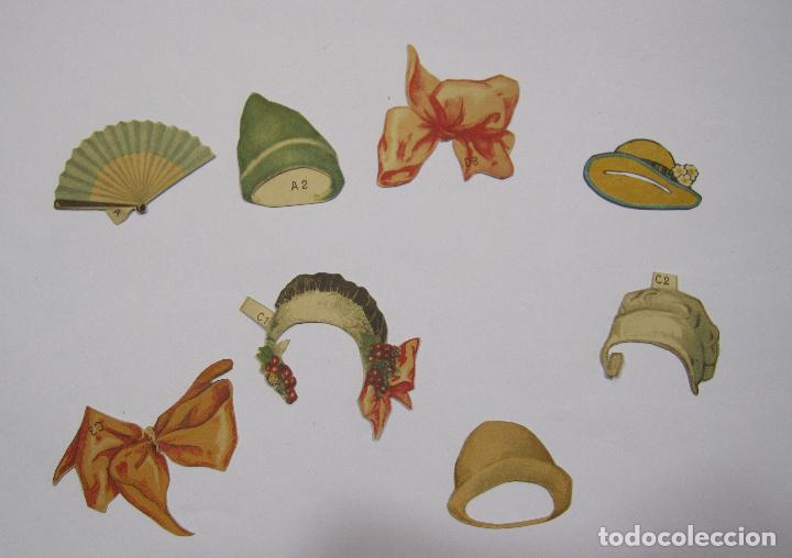 Coleccionismo Recortables: IMPORTANTE Y ANTIGUA COLECCIÓN DE MUÑECAS / MUÑECOS RECORTABLES. VESTIDOS. COMPLEMENTOS. VER FOTOS - Foto 46 - 228420055