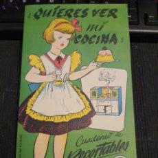 Coleccionismo Recortables: QUIERES VER MI COCINA .. EDICIONES LA TIJERA.. Lote 234809155