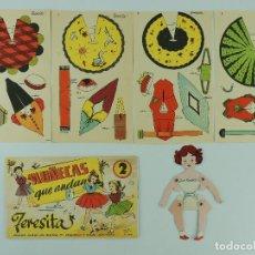 Coleccionismo Recortables: RECORTABLE DE LA TIJERA-- Nº 2 - SERIE MUÑECAS QUE ANDAN. -- TERESITA. Lote 235425235