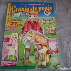 Coleccionismo Recortables: GRANJA DE PONIS MANUALIDADES CON MUÑECA RECORTABLE. Lote 235529595
