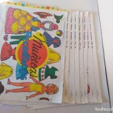 Coleccionismo Recortables: CONJUNTO DE 10 LAMINAS RECORTABLES EVA 881 A 890 AÑO 1963. Lote 236164775