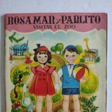 """Coleccionismo Recortables: RECORTABLE - ROSAMAR Y PABLITO VISITAN EL ZOO - COLECCIÓN """"MI LIBRO"""", Nº 1 - AÑO, 1960. Lote 236189920"""
