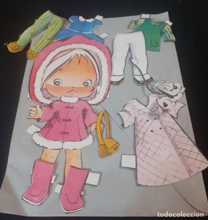 Coleccionismo Recortables: lote de 4 muñecas recortables y recortadas de los años 60 - Foto 5 - 240417350