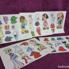 Collezionismo Figurine da Ritagliare: 5 HOJAS CON RECORTABLES DE MUÑECA, RECORTES VICTORIA, SERIE MUÑECAS, ROMA, 1979, UNOS 34 X 27 CMS.. Lote 241971640