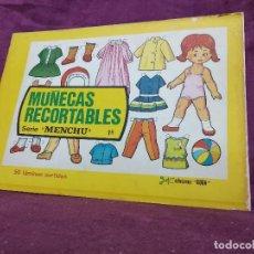 Collezionismo Figurine da Ritagliare: LIBRITO CON 50 PÁGINAS DE RECORTABLES DE MUÑECAS, SERIE MENCHU, COMPLETO, BOGA, UNOS 27 X 19 CMS.. Lote 241973935
