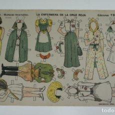 Coleccionismo Recortables: RECORTABLE Nº4 LA ENFERMERA DE LA CRUZ ROJA - EDICIONES T.B.O .. Lote 245004070
