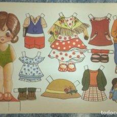 Coleccionismo Recortables: ST 448 LAMINA RECORTABLE MUÑECA CARMEN POPOTITOS 78 JUGUETE INFANTIL. Lote 247161815