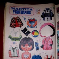 Coleccionismo Recortables: MUÑECA RECORTABLE ORIGINAL MARTITA Y SUS TRAPITOS EDITADO POR BRUGUERA EN LA REVISTA LILY 1972. Lote 247581460