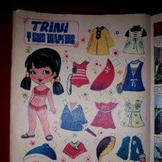 Coleccionismo Recortables: MUÑECA RECORTABLE ORIGINAL TRINI Y SUS TRAPITOS EDITADO POR BRUGUERA EN LA REVISTA LILY 1972. Lote 247583305