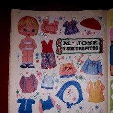 Coleccionismo Recortables: MUÑECA RECORTABLE ORIGINAL Mª JOSE Y SUS TRAPITOS EDITADO POR BRUGUERA EN LA REVISTA LILY 1972. Lote 247583935
