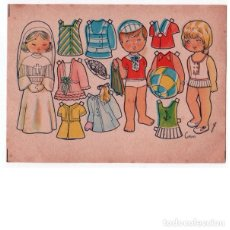 Coleccionismo Recortables: MUÑECAS RECORTABLES CORIN. ILUSTRADA POR BOMBÓN. 7X9,5 CM.. Lote 254417740