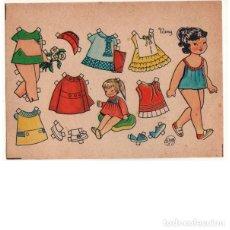 Coleccionismo Recortables: MUÑECA RECORTABLE NANY. ILUSTRADA POR FLORES. 7X9,5 CM.. Lote 254418440