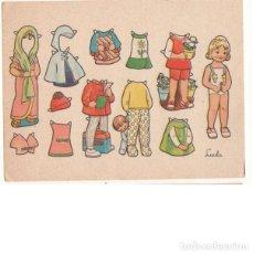 Coleccionismo Recortables: MUÑECA RECORTABLE LUCILA. 7X9,5 CM.. Lote 254418615