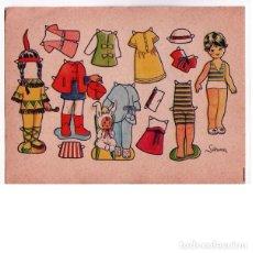 Coleccionismo Recortables: MUÑECA RECORTABLE SARINA. 7X9,5 CM.. Lote 254419315