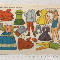 Coleccionismo Recortables: ST R 63 LAMINA RECORTABLE MUÑECA CARMENCHU Nº 819 ED. EVA. Lote 254797600