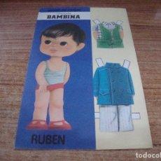 Coleccionismo Recortables: RECORTABLE COLECCION BAMBINA RUBEN. Lote 293989963