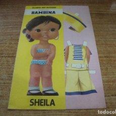 Coleccionismo Recortables: RECORTABLE COLECCION BAMBINA SHEILA. Lote 293989978