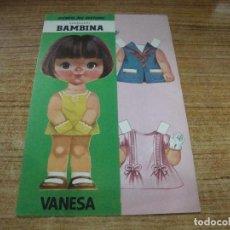 Coleccionismo Recortables: RECORTABLE COLECCION BAMBINA VANESA. Lote 293989968