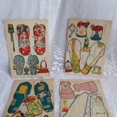 Coleccionismo Recortables: ANTIGUO LOTE DE 4 LAMINAS RECORTABLES JAPONESAS. Lote 257340795