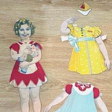 Coleccionismo Recortables: LA AUTENTICA SHIRLEY MODELO A EDITORIAL HERGAN VIGO - 1939. Lote 264703934