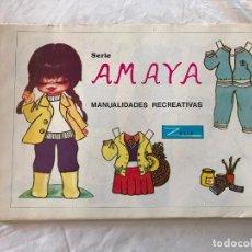 Coleccionismo Recortables: ÁLBUM 50 LÁMINAS RECORTABLES MUÑECAS SERIE AMAYA MANUALIDADES REC. ZULIA, POPOTITO 78. Lote 265172144