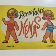 Colecionismo Recortáveis: LOTE Nº 1. RECORTABLES NENAS. 5 EJEMPLARES DOBLES DIFERENTES. Nº 1 AL 5.. Lote 265560389