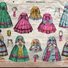 Coleccionismo Recortables: LITOGRAFIA POUPÉES À HABILLER ( MUÑECAS PARA VESTIR) AÑO 1855. ÉPINAL. Lote 269000904