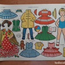 Collectionnisme Images à Découper: RECORTABLE MUÑECA: CARMENCITA EN SEVILLA - LA TIJERA / SERIE IMPERIO Nº 13. Lote 275507853