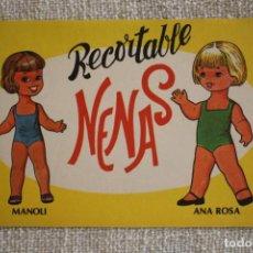 Coleccionismo Recortables: RECORTABLE NENAS. MANOLI Y ANA ROSA. Nº 7. AÑO 1977. EDITORIAL EVA. MEDIDA 12,5 X 18 CM. VER FOTOS.. Lote 278611583