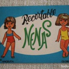 Coleccionismo Recortables: RECORTABLE NENAS. ANGELITA Y GLORIA. Nº 6. AÑO 1977. EDITORIAL EVA. MEDIDA 12,5 X 18 CM. VER FOTOS.. Lote 278611778